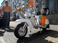 Photo of Mod scooter, Town centre