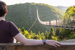 Enjoying this piece of Nature (Fabian F_) Tags: ad holzkern geierlay bridge sunrise morning me myself i nature