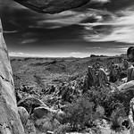 Using the Balance Rock to Frame a View of Big Bend National Park (Black & White) thumbnail