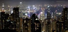 Victoria Peak Long exposure (Matthew P Sharp) Tags: hongkong hk skyline city night eos 80d canon