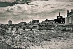 STONE ARCH BRIDGE-MINNEAPOLIS, MN  III (2) (panache2620) Tags: nonchrome greentint tint stonearchbridge minneapolis minnesota eos canon70d creative candid scenic
