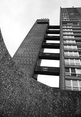 Urban walk 20 May 2017: Lewisham to Mile End 59 (neil mp) Tags: london towerhamlets poplar e14 balfrontower balfron ernőgoldfinger goldfinger modernism brutalism c20soc twentiethcenturysociety brownfieldestate harca londonewcastle blackwalltunnelapproach stleonardsroad andrewstreet blackandwhite bnw monochrome architecture servicetower walkways concrete