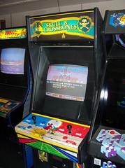 Skull & Crossbones (scottamus) Tags: classic arcade video game cabinet marquee bezel controls skull crossbones atari 1989