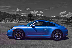 Call Me Up in Dreamland (oybay©) Tags: greatbasin greatbasinnationalpark visitorcenter supercar porsche car automobile barrettjackson carauction scottsdale arizona blackandwhite color smile smileyface german germancar
