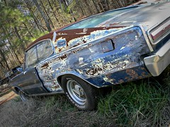 the Forgotten (Dave* Seven One) Tags: mopar dodge charger rusty rust rot decay forgotten abandoned junk salvage junkyard 1960s 1966 patina