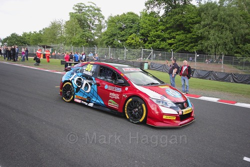 Jeff Smith on the BTCC grid at Oulton Park, May 2017