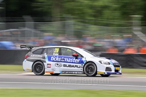 James Cole in BTCC action at Oulton Park, May 2017