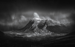 Dark Buachaille (Roksoff) Tags: moody atmosphere white storm cold lochanachlaise lochanstainge blackmount lochba rannochmoor glencoe scottishhighlands scotland meallabhuiridh criese buachailleetivemor winter snow ice frozen water mountains blackandwhite mono outdoors landscape nikond800 nikond810 nikond600 gitzo 1635mmf4 70200mmf28 leefilters