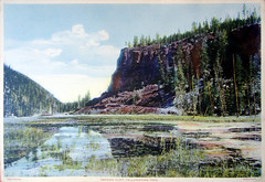 Obsidian Cliff , Yellowstone Park 1935 (Hydra5) Tags: yellowstonepark 1935 obsidiancliff