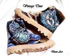 Sneakers with Cat from Alice in Wonderland (art-store.net) Tags: sneakers womensshoes handpainted modernprint updatedmodel originaldesignmodel sneakerswithcatfromaliceinwonderland