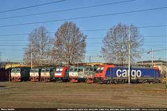 Modern Family... (Marco Stellini) Tags: mercitalia rail milano smistamento depot roundhouse traxx bombardier e652 tigre fs