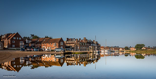 High tide reflections - Blakeney quay {explore}