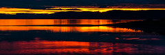 Reflecting Sunset (Brian Travelling) Tags: firthofclyde northayrshire reflection water sunset sunsetsandsilhouettes silhouette pentaxkr pentax pentaxdal