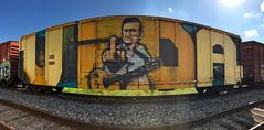 (o texano) Tags: houston texas graffiti trains freights bench benching wholecar vida