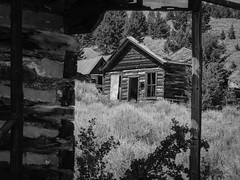 Ghost town (dolmst) Tags: montana miningcamp monochrome comet building bw abandoned