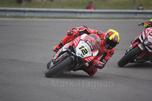Javier Fores in World Superbikes at Donington Park, May 2017