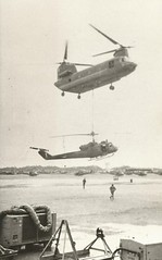 Chook and Huey (Dulacca.trains) Tags: raaf usarmy ch47 chinook uh1b iroquois huey 9sqn 9squadron vietnam 1967 vungtau helicopter aircraft warbird chook
