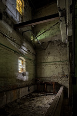 Right Light, Yellow, Green, White (billmclaugh) Tags: middletownpaperboard paperboard industry paper pulp mill warehouse ohio abandoned urbanexploration urbex ue rust decay shadows derelict debris canon 5dmiii tse24mmf35lii tiltshift highdynamicrange hdr promotecontrol adobe lightroom photoshop photomatix on1 perfecteffects