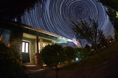 Oak Island star trails (davetefft) Tags: nikon nikkor star startrails night sky d7000 105mm fisheye oregon spring polaris astronomy