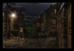 Ain't no Sunshine (Kev Walker ¦ 8 Million Views..Thank You) Tags: architecture beautiful britishculture building canon1100d canon1855mm colorfull england hdr kirkbylonsdale lancashire northwest traditional rain streetlamps lights clouds
