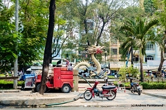 Street Scenes in Saigon (Andrew Parmanand) Tags: vietnam asia seasia saigon hochiminh hochiminhcity street motorcycles bicycles