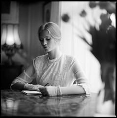 in the mood for love by Radoslaw Pujan - Writing letters in Brussels