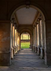 Grass is Greener (Martin-Fused) Tags: bath uk england priorpark nationaltrust bridge view light palladian column