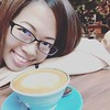 Latte and Smile (夏日梦) Tags: latte coffee cafe smile asian selfie selfportrait iphone6s iphone