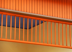 It's Bright Outside (studioferullo) Tags: abstract architecture art beauty bright building city colorful colors contrast design detail downtown edge house light minimalism natural old outdoor outside perspective pattern pretty scene serene tranquil study sunlight sunshine street texture tone world tucson arizona mercado orange purple lines wood railing fence yellow diagonal blue