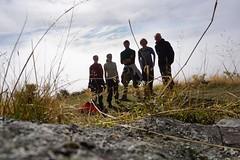 Die Expeditionsgruppe zum Roys Peak: Maria, Ite, Matze, Micha, Gerald