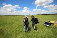 On the ground (shama rama) Tags: skydive parachuting ukparachuting eaaa eastanglianairambulance tandemskydive beccles suffolk freefall