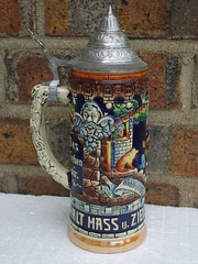 Tall & Colourful West German Pottery Drinking Beer Stein (beetle2001cybergreen) Tags: tall colourful west german pottery drinking beer stein