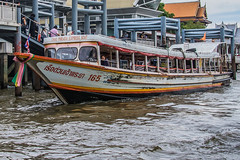 Bangkok River boat orange line (21mapple) Tags: bangkok thai thailand river chaophrayariver boat taxi