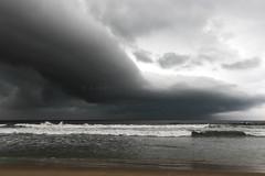Incoming Thunderstorm (sampollittphoto) Tags: thunderstorm squall beach ocean atlanticocean clouds weather precipitation saltpond ghana africa