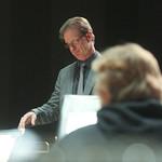 Dr. Greig conducting band.