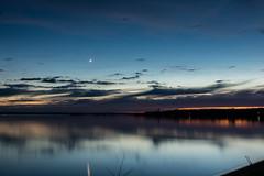 First Sand Bay After Sunset (LostOne1000) Tags: firstsandbay pentax2470f28edsdm pentax sunset unitedstates keweenawbay michigan upperpeninsula pentaxk3ii moon pequaming evening lakesuperior clouds lanse us