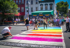 2017.06.09 DCRainbowCrosswalks, Washington, DC USA 6230