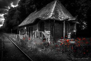 historical Train Station b&w