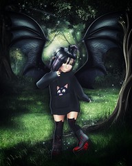 Let out your inner dragon (Tulle❤Embla) Tags: dragon embla bivd blood wings forest sparkles boots shoes bowillow sl second life virtual world reality gacha toddleedoo toddler child kid baby