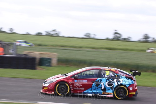 Jack Goff in BTCC action at Croft, June 2017