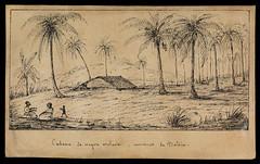 Cabane de negre esclave, environs de Bahia (BNDigital) Tags: escravos