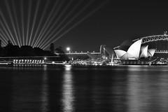 vivid sydney (Greg Rohan) Tags: sydneyoperahouse operahouse sydneyharbour harbour monochrome blackwhite blackandwhite bw lights vividsydney vivid sydney photography 2017 d7200 night dark