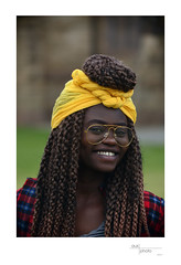 Ester (heritagefutures) Tags: nikon d800 sk100 aerial camera rokuoh sha hexar ser iia 20cm antique simulator project albury nsw australia kim multicultural day 2017 qeii square ethnicity community policy regional resettlement refugees africa curls hair hairband yellow glasses spectacles