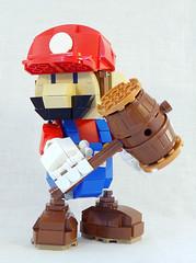 Mario! (lingonkart) Tags: lego moc mario videogames nintendo papermario supermariobros plumber