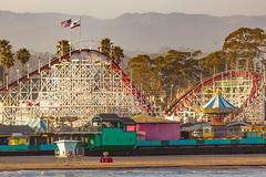 Santa Cruz Beach at Sunset (Edward Lyons) Tags: santacruz beach bigdipper california sunset amusementpark outdoors thelostboys