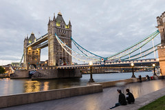 Tower Bridge, London (Koupal D) Tags: towerbridge london people longexposure tripod manfrotto nikon2470mmf28 nikond610 nikkor reflections clouds lights thames river thamesriver