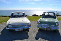 Ford Anglia & Ford Corsair (AndehtW) Tags: ford anglia 105e corsair deluxe classic car anglesey wales south stack holy island holyhead mountain old retro