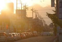 yokkaichi5174 (tanayan) Tags: urban town cityscape mie yokkaichi japan nikon j1 三重 四日市 日本 road street alley evening glow