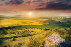 Sun Set (Rainer Schund) Tags: sun set sunset sonnenuntergang erfurt thüringen germany nikon natur nature nikond4 feld feldweg steine stone sonne natureexploring naturemasterclass