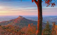 Burg Hohenzollern (anaidphotography) Tags: burghohenzollern landschaft badenwürtemberg schloss sonnenuntergang reise alt gebäude deutschland castle architecture landscape sky baum